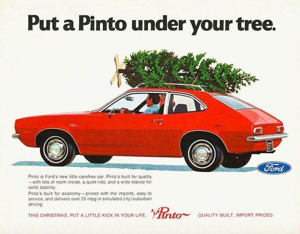 B98cddab40695aab6307ba7d51c49f1e Ford Pinto Christmas Ad 610 476